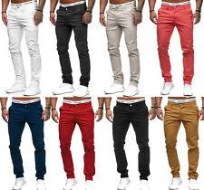 Hombre Pantalones Vaqueros Chino Regular Fit Sencillo Tela Elástica w29-w38