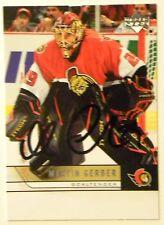 Ottawa Senators Martin Gerber Signed 06/07 Upper Deck UD Card Auto