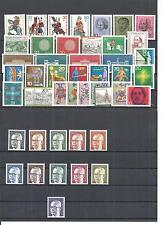 Bund, BRD 1970 - 1979, komplette Jahrgänge postfrisch ** (mit allen Blöcken)