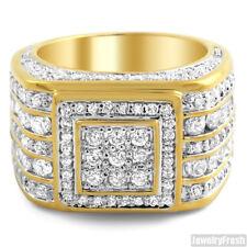 Custom 5 Carat CZ Superbowl 18K Gold Finish Mens Ring