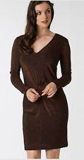 NEW $179 Ted Baker Lizzey Vneck Metallic Sparkle Dress Sizes 2, 4, 6, 8, 10