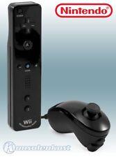 Nintendo Wii - original Remote Motion Plus + Nunchuk Controller #schwarz