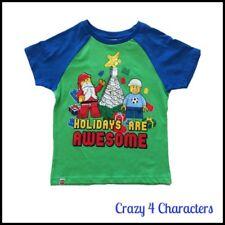 Licensed Lego Christmas Tshirt T-Shirt Tee Sizes 4 5 6 Party Birthday Xmas
