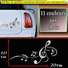 sticker autocollant clé de sol note de musique déco voiture frigo ipad, macbook