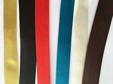 Bias Binding Tape 20 mm Width Polyester Satin 1 / 5 / 10 metres Sewing Craft