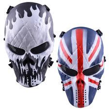 Airsoft Paintball Full Face Skull Skeleton Tactical Military Halloween CS Mask
