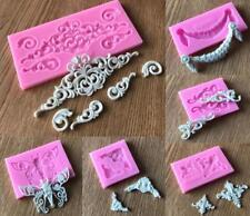 Silikonform Tortendeko Fondant Veiner Mold 3D Schokolade Marzipan Rahmen Mould