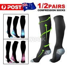 15-30mmHg Medical Compression Socks Support Stockings Travel Flight Socks AU