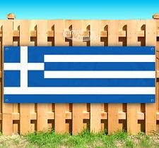 """Greece Flag Advertising Vinyl Banner Flag Sign 15"""" 18"""" 20"""" 30"""" 48"""" 52"""""""