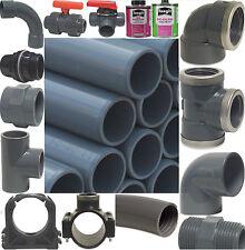PVC Rohr Klemme Winkel T-Stück Muffe Kleber Fittings Schlauch PVC Klebefittings