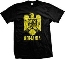 Coat of Arms of Romania Roumania Rumania Romanian Pride Mens T-shirt