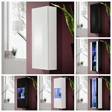 Wohnzimmer Vitrine Glasvitrine Schaukasten Glasregal Regal FLY II HOCHGLANZ LED