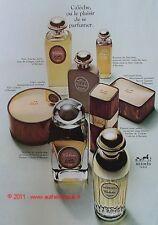 PUBLICITE PARFUM HERMES CALECHE SAVON TALC DE 1967 AD