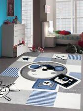 Teppich Kinderzimmer Babyzimmer Jungen Affe Pirat blau crème grau schwarz