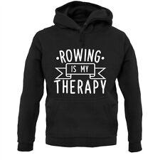 Rowing Is My Therapy - Hoodie / Hoody - Rower - Canoe - Kayak - Boat - Sport