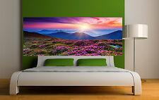 Adesivo testa de letto decorazione da muro paesaggio fiorito ref 3678 5