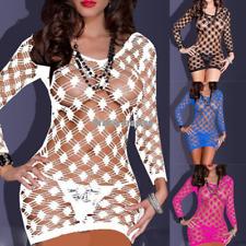 Hot Sexy Ladies Mesh Fishnet Dress Body Stocking Bodysuit Clubwear Lingerie