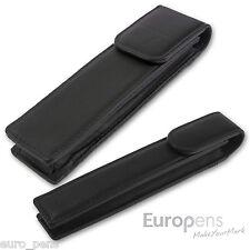 Europens Magnetic Leather Pen Case / Pouch - Black - Parker Pen Compatible