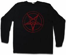 BAPHOMET PENTAGRAM SIGN LONG SLEEVE T-SHIRT Aleister Crowley Satanic 666