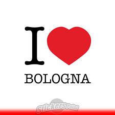 adesivo I LOVE BOLOGNA sticker PVC auto moto - Alta Qualità 2 colori