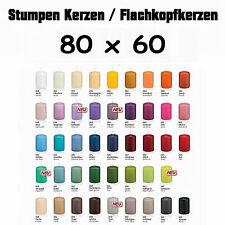 16 Stumpen Kerzen 80x60mm 1.Wahl RAL Qualität / Kerzen Wiedemann / mit Cello