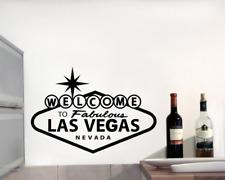 Wandtattoo 'Welcome to Las Vegas' Wandaufkleber XXL 25 Farben 8 Größen
