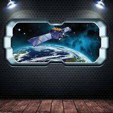 SPAZIO FINESTRA Planet Earth adesivo muro a colori camera da letto DECALCOMANIA