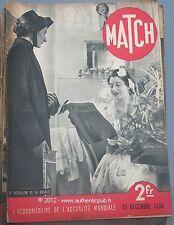 CADEAU ANNIVERSAIRE JOURNAL NAISSANCE MATCH 29/12/1938 ASTROLOGIE PASTEUR