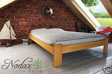 """*NODAX* Wooden Furniture Solid Pine Bedframe 4ft UK  Walnut Oak Alder Pine """"F15"""""""