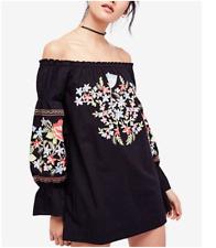NWT Free people Fleur Du Jour Cotton Embroidered Mini dress Retail $148