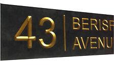 "slate house plaque sign 16"" x 4"" (40cm x 10cm)   genuine ""v"" carved engraving"