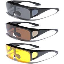 6f2d669ef8f6 Large FLIP UP POLARIZED FIT OVER Sunglasses Cover Prescription Rx  eyeglasses Men