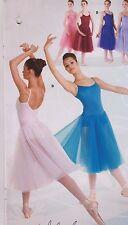 NWT Ballet Dance dress Romantic skirting tulle chiffon Ladies/Girls many colors