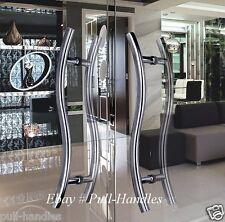 Set of Long Door curved Push / Pull Handles, Modern Entryway Design, Entrance
