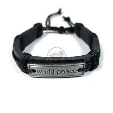 World Peace Bracelet Irie Reggae Jamaica Hawaii Hippie Hobo Vibes Adjustable1SZ