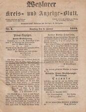 Wetzlarer Kreis- und Anzeige-Blatt: Jahrgang 1854 (8. Jahrgang) gebunden