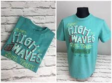 Ralph Lauren Boys Kids Surfer High Waves T- Shirt Top in Pale Green Colour