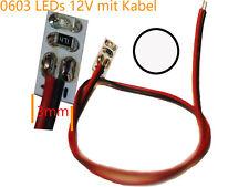10 Stück SMD LED 0603 7xFarben mit kabel Vorwiderstaende an 12V