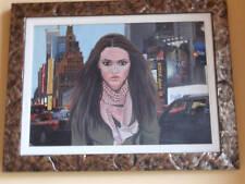 Maria G. PERI olio tela 50x70 + catalogo con lodola kostabi warhol guttuso tozzi