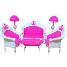 Mobili per sedie a dondolo Set di mobili in plastica per decori casa di bamboleC