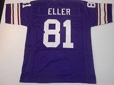 UNSIGNED CUSTOM Sewn Stitched Carl Eller Purple Jersey - M, L, XL, 2XL