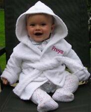 personnalisé 100% Coton Éponge Bébé Peignoir avec capuche avec nom ou Uni