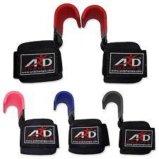 ARD CHAMPS™ Heavy Duty Weight Lifting Training Gym Straps Hook Bar Wrist Brace