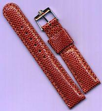 Vintage Steel Omega Buckle & Brown 18mm Custom Genuine Lizard Strap Leather Line