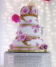 Diamante effect Waterfall cake stand rhinestone effect wedding engagement cake