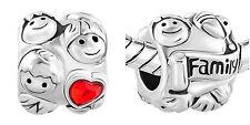 Red CZ Mom dad Son daughter Boy girl Family Forever Love Charm For Bracelets