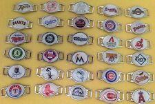 MLB Baseball Charm Bracelet Team Color Choose Your Team Shoelace Pair New L@@K
