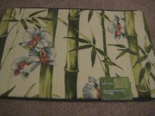 Hawaii Memory Foam Mat Green color  bamboo flower  Floral Flora spa rug