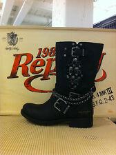 Replay Damenschuhe Schuhe Stiefel Boots Schwarz Nieten
