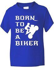 Born To Be A Biker Rock Motorbike Funny Boys Girls T-Shirt BirthdayGift Age 1-13